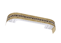Карниз с багетной планкой Камелия с поворотом