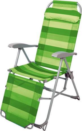 Кресло-шезлонг с подножкой складное (арт. К3 зеленый)