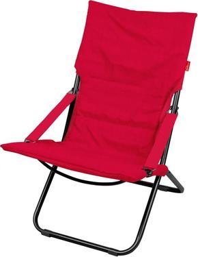 Кресло-шезлонг складное с мягким матрасом (ННК4/R винный)