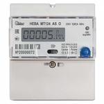 Счетчик электроэнергии однофазный НЕВА МТ 124 AS O, многотарифный