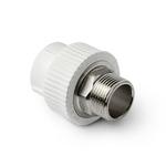 Муфта полипропиленовая Pro Aqua комбинированная с наружной резьбой под ключ 40-1 1/4(PP-R