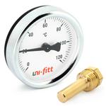 Термометр аксиальный с погружной гильзой